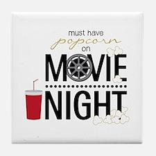 Movie Night Pop Tile Coaster