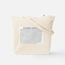 Weighty Weiner Dog Tote Bag