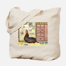 Weighty Weiner Dog Tote Bag