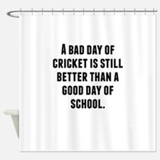 A Bad Day Of Cricket Shower Curtain