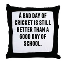 A Bad Day Of Cricket Throw Pillow