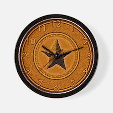 Orange Southwest Star Wall Clock