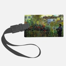 Monet Painting in his Garden Luggage Tag