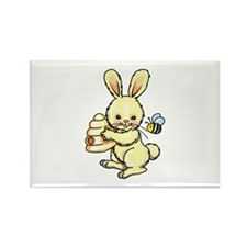 BUNNY WITH BEE AND HIVE Magnets
