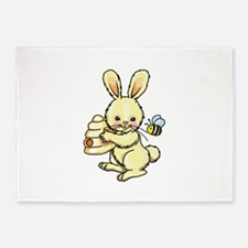 BUNNY WITH BEE AND HIVE 5'x7'Area Rug