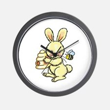 BUNNY WITH BEE AND HIVE Wall Clock