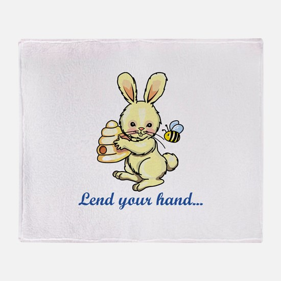 LEND YOUR HAND Throw Blanket
