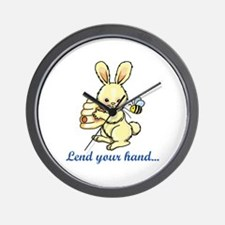 LEND YOUR HAND Wall Clock
