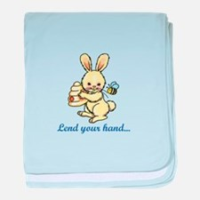 LEND YOUR HAND baby blanket