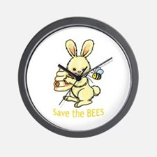 SAVE THE BEES Wall Clock