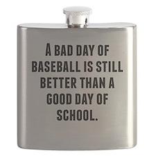 A Bad Day Of Baseball Flask