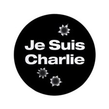 """Je Suis Charlie 3.5"""" Button (100 pack)"""