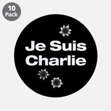 "Je Suis Charlie 3.5"" Button (10 Pack)"