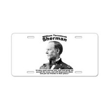 Sherman: Eternal Aluminum License Plate