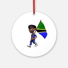 Tanzania Boy Ornament (Round)