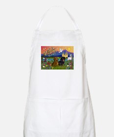 Dachshund Pair in Fantasy Land BBQ Apron