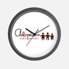 is all in heart Wall Clock