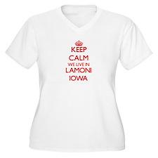 Keep calm we live in Lamoni Iowa Plus Size T-Shirt