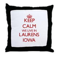 Keep calm we live in Laurens Iowa Throw Pillow