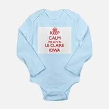Keep calm we live in Le Claire Iowa Body Suit