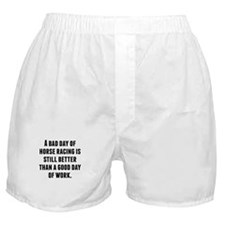A Bad Day Of Horse Racing Boxer Shorts
