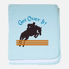 GET OVER IT baby blanket