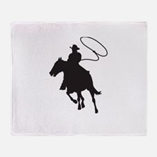 ROPING COWBOY Throw Blanket