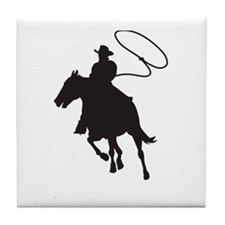 ROPING COWBOY Tile Coaster