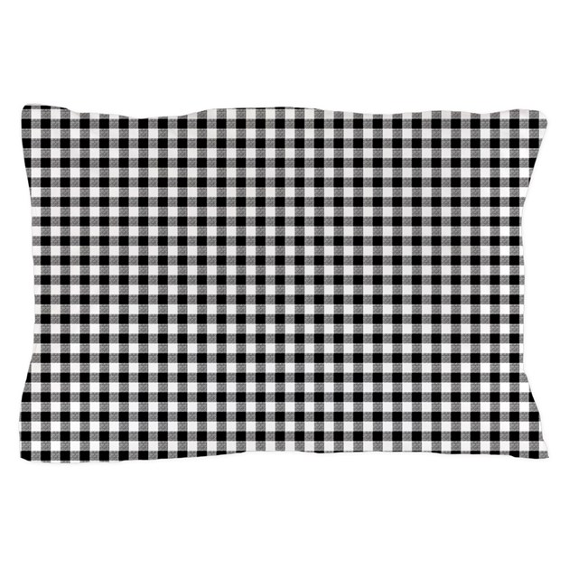 Black and white gingham pillow case by artandornament for White craft pillow cases