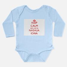Keep calm we live in Nashua Iowa Body Suit