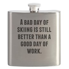 A Bad Day Of Skiing Flask