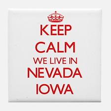 Keep calm we live in Nevada Iowa Tile Coaster