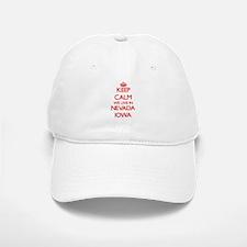 Keep calm we live in Nevada Iowa Baseball Baseball Cap