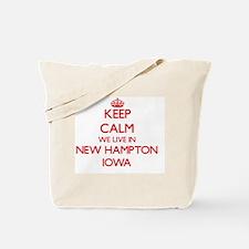 Keep calm we live in New Hampton Iowa Tote Bag