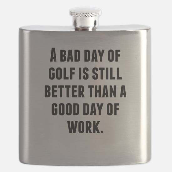 A Bad Day Of Golf Flask