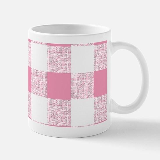 Pink Gingham Pattern Mug