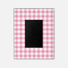 Pink Gingham Pattern Picture Frame