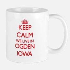 Keep calm we live in Ogden Iowa Mugs