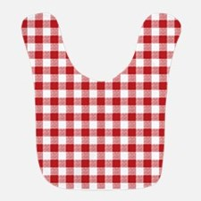 Red Gingham Pattern Bib