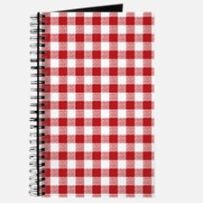 Red Gingham Pattern Journal