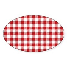 Red Gingham Pattern Decal