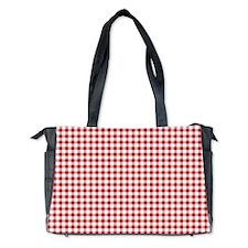 Red Gingham Pattern Diaper Bag