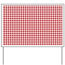Red Gingham Pattern Yard Sign