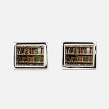 Bookshelves Rectangular Cufflinks
