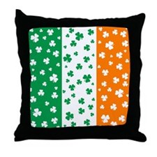 Shamrock Irish Flag Throw Pillow