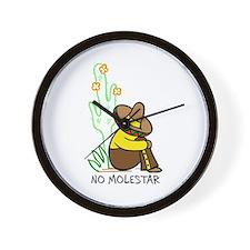 NO MOLESTAR Wall Clock