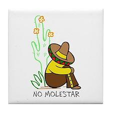 NO MOLESTAR Tile Coaster
