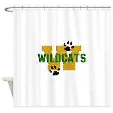 W WILDCATS Shower Curtain