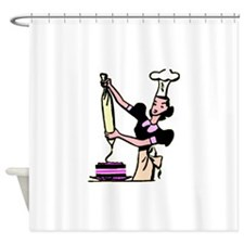 Cake Decorator Shower Curtain