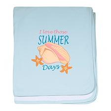 LOVE THOSE SUMMER DAYS baby blanket